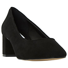 Buy Dune Ana Block Heeled Court Shoes Online at johnlewis.com