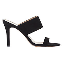 Buy Mint Velvet Lillia Stiletto Mule Sandals, Black Online at johnlewis.com