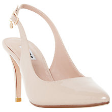 Buy Dune Cathy Sling Back High Heel Court Shoes, Nude Patent Online at johnlewis.com