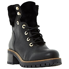 Buy Dune Rochelle Lace Up Ankle Boots, Black Online at johnlewis.com
