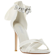 Buy Dune Morgan Embellished Stiletto Heeled Sandals, Ivory Online at johnlewis.com