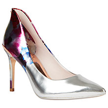 Buy Ted Baker Savei Pointed Toe Court Shoes, Floral Online at johnlewis.com