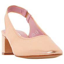Buy Dune Conda Slingback Block Heeled Court Shoes, Rose Online at johnlewis.com
