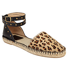Buy AND/OR Leola Leopard Two Part Espadrilles, Multi Online at johnlewis.com