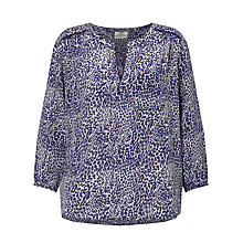 Buy Pyrus Grace Silk Blouse, Navy/Pink Online at johnlewis.com