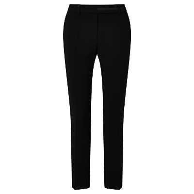 Marc Cain Cropped Tapered Leg Trousers, Black