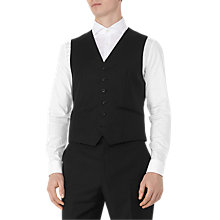 Buy Reiss Harry Modern Fit Waistcoat, Black Online at johnlewis.com