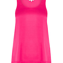 Buy Warehouse Satin Front Vest, Fuchsia Online at johnlewis.com