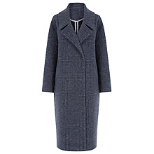 Buy Warehouse Oversized Check Coat, Navy Online at johnlewis.com