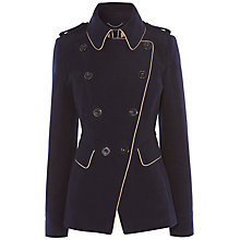 Buy Karen Millen Reefer Coat, Navy Online at johnlewis.com