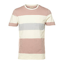 Buy Selected Homme Rune Wide Stripe T-Shirt Online at johnlewis.com