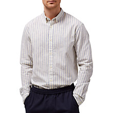 Buy Selected Homme Spun Stripe Shirt, Forever Blue/Papyrus Online at johnlewis.com