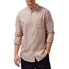 Buy Selected Homme Twoelliot Grandad Collar Shirt, Burro Online at johnlewis.com