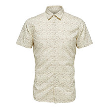 Buy Selected Homme Onelab Slim Fit Short Sleeve Shirt, Papyrus/Burlwood Online at johnlewis.com