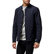 Buy Selected Homme Square Bomber Jacket, Dark Sapphire Online at johnlewis.com