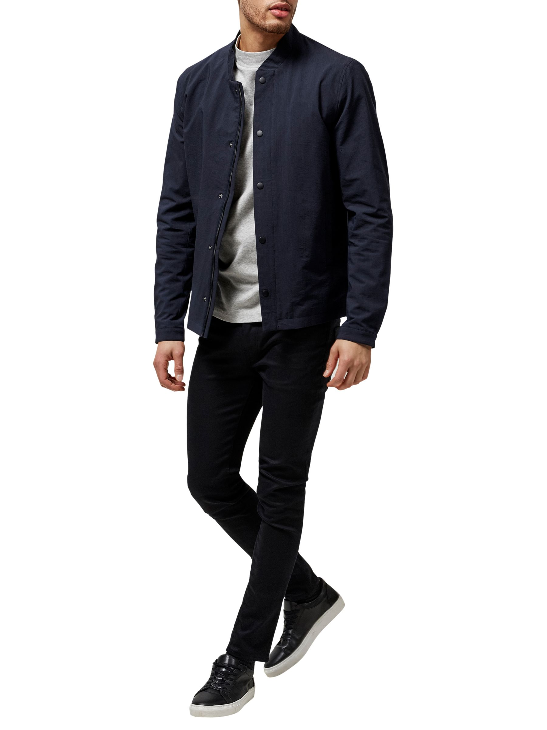 Selected Homme Selected Homme Square Bomber Jacket, Dark Sapphire