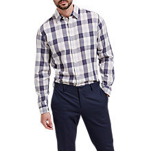 Buy Selected Homme Rune Check Shirt, Ombre Blue Online at johnlewis.com