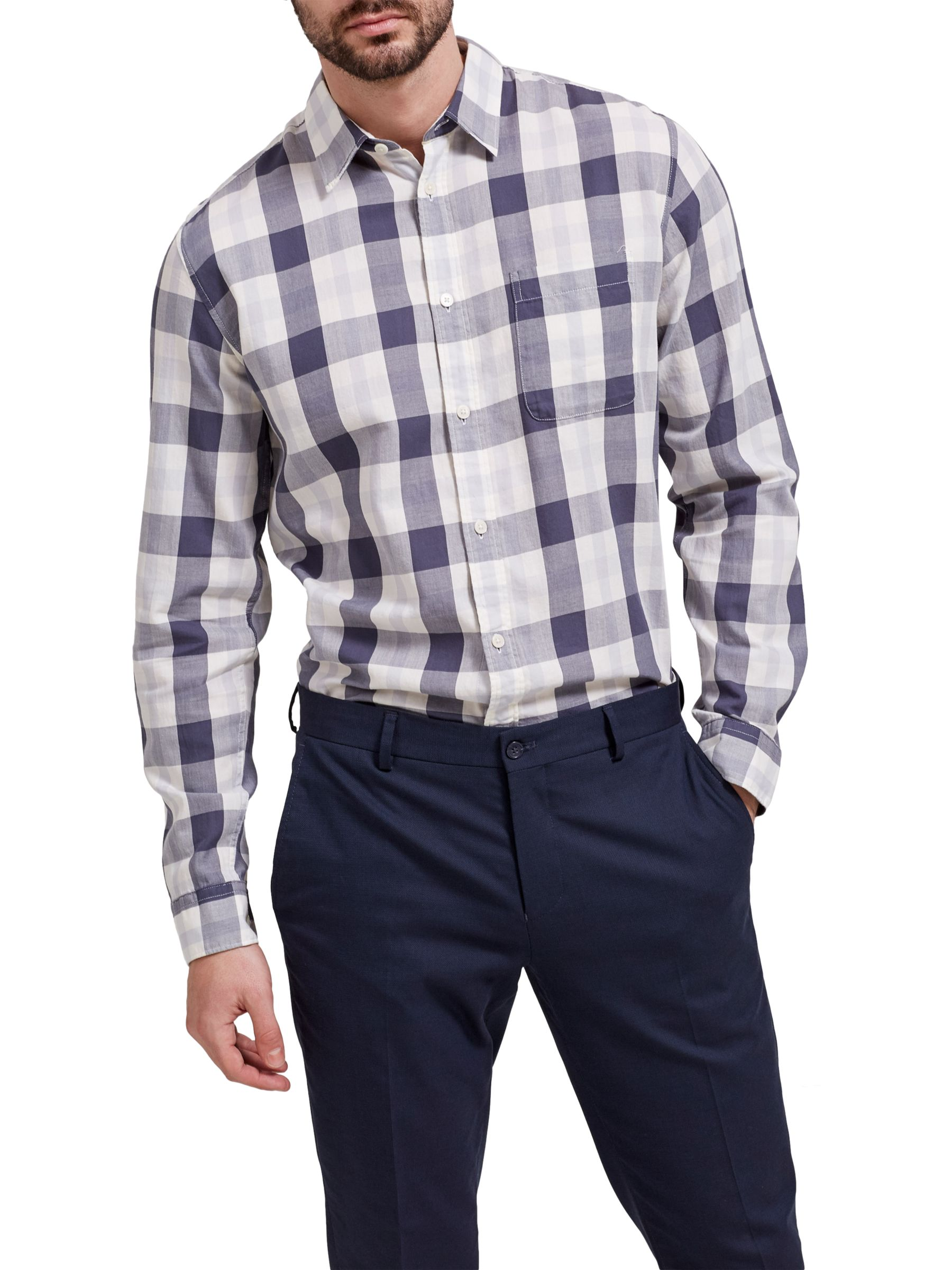 Selected Homme Selected Homme Rune Check Shirt, Ombre Blue