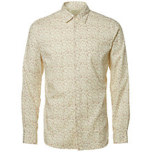 Buy Selected Homme Onelab Long Sleeve Shirt, Burlwood/Papyrus Online at johnlewis.com