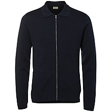 Buy Selected Homme Jakob Full Zip Knitted Jacket, Dark Sapphire Online at johnlewis.com