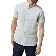 Buy Selected Homme Jacque Short Sleeve Shirt, Forever Blue/White Online at johnlewis.com