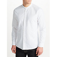 Buy JOHN LEWIS & Co. Grandad Collar Shirt, White Online at johnlewis.com