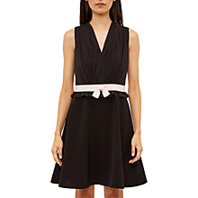 Buy Ted Baker V Neck Bow Detail Dress, Black Online at johnlewis.com