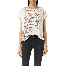 Buy AllSaints Javan Pina T-Shirt, Chalk White Online at johnlewis.com