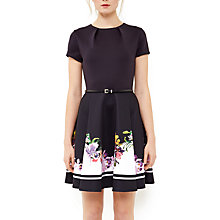 Buy Ted Baker Milleh Lost Gardens Border Skater Dress, Black Online at johnlewis.com