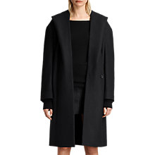 Buy AllSaints Scala Coat, Black Online at johnlewis.com