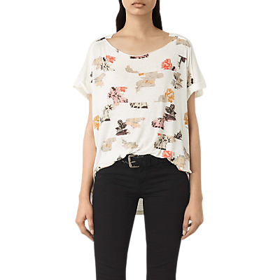 AllSaints Arosa Pini T-Shirt, Chalk White