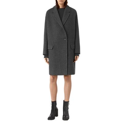 AllSaints Ada Teco Coat, Black/White
