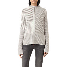 Buy AllSaints Terra Jumper, Cream/White Online at johnlewis.com
