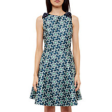 Buy Ted Baker Sainte Bow Shoulder Dress, Dark Blue Online at johnlewis.com