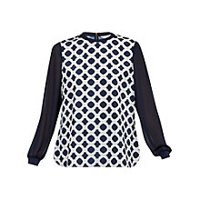 Buy Ted Baker Josia Blushing Rose Print Top, Navy Online at johnlewis.com