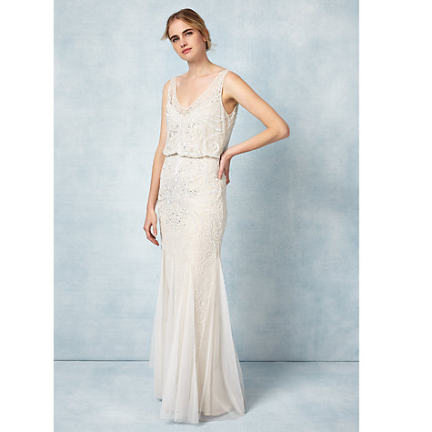 Wedding Dresses M S Collection V Neck Pleated Maxi Dress - John ...