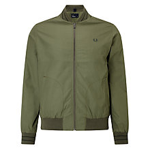 Buy Fred Perry Tramline Bomber Jacket, Olive Online at johnlewis.com