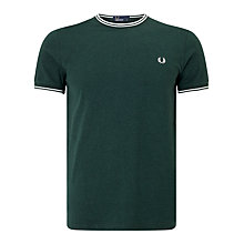 Buy Fred Perry Twin Tipped Solid Rib T-Shirt Online at johnlewis.com