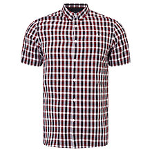 Buy Fred Perry Three-Colour Short Sleeve Shirt, Rosewood Online at johnlewis.com