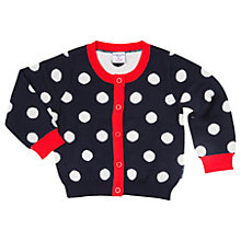Buy Polarn O. Pyret Baby Polka Dot Cardigan, Blue Online at johnlewis.com