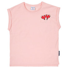 Buy Polarn O. Pyret Girls Heart Top, Pink Online at johnlewis.com