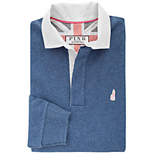 Buy Thomas Pink Fielding Plain Cotton Rugby Shirt, Blue Online at johnlewis.com
