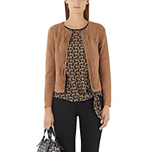 Buy Marc Cain Faux Suede Jacket, Brown Online at johnlewis.com
