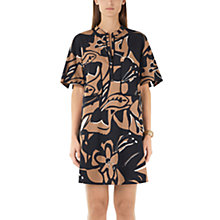 Buy Marc Cain Printed Dress, Black/Brown Online at johnlewis.com