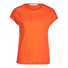 Buy Oui Cotton Linen Jersey Top, Cherry Tomato Online at johnlewis.com