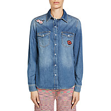 Buy Oui Denim Shirt, Blue Denim Online at johnlewis.com