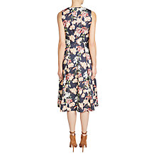 Buy Oui Floral Print Prom Dress, Dark Blue/Red Online at johnlewis.com
