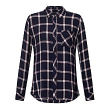 Buy Rails Hunter Check Shirt, Nightfall/White Online at johnlewis.com