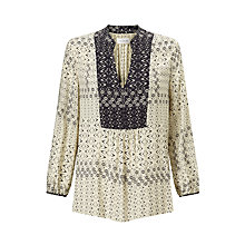 Buy Velvet Rubydelle Blouse, Cream Online at johnlewis.com