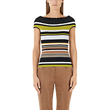 Buy Marc Cain Cap Sleeve Stripe Top, Multi Online at johnlewis.com